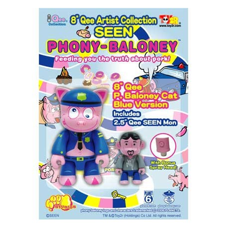 Figur Qee Seen Blue P-Baloney by Seen Toy2R Qee Large Geneva