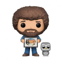 Figurine Pop Joy Of Painting Bob Ross With And Hoot Edition Limitée Chase Funko Boutique Geneve Suisse