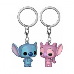 Figurine Pop Pocket Porte Clés Stitch et Angel Funko Boutique Geneve Suisse