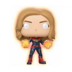 Pop Marvel Captain Marvel with Glowing hands Limited Edition