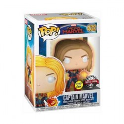 Figur Pop Glow in the Dark Marvel Captain Marvel with Glowing hands Limited Edition Funko Geneva Store Switzerland