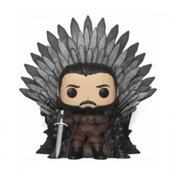 Figurine Pop Deluxe Game of Thrones Jon Snow Sitting on Iron Throne Funko Boutique Geneve Suisse