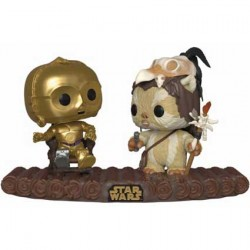 Figurine Pop Star Wars Movie Moment C-3PO on Throne Funko Boutique Geneve Suisse