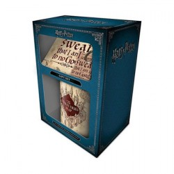 Figurine Harry Potter Tasse, Sous-verre et Porte-clés Marauders Map Hole in the Wall Boutique Geneve Suisse