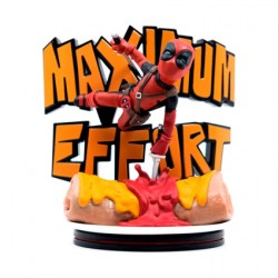 Figurine Marvel Diorama Deadpool Maximum Effort Q-Fig Quantum Mechanix Boutique Geneve Suisse