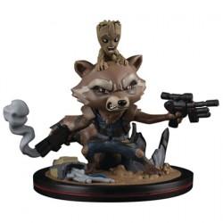 Figurine Marvel Diorama Rocket et Groot Q-Fig Quantum Mechanix Boutique Geneve Suisse