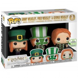 Figurine Pop ECCC 2019 Pop Harry Potter Ginny, Fred & George Weasley Quidditch World Cup 3-Pack Edition Limitée Funko Boutiqu...