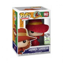 Figurine Pop ECCC 2019 Diamond TV Carmen Sandiego Carmen Edition Limitée Funko Boutique Geneve Suisse