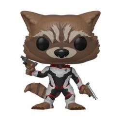 Figurine Pop Marvel Avengers Endgame Rocket in Team Suit Edition Limitée Funko Boutique Geneve Suisse