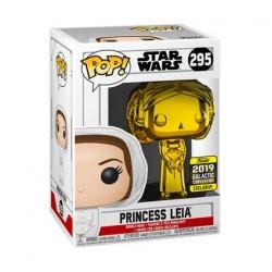 Figuren Pop Star Wars 2019 Galactic Convention Princess Leia Gold Chrome Limitierte Auflage Funko Genf Shop Schweiz