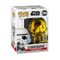 Figur Pop Star Wars 2019 Galactic Convention Stormtrooper Gold Chrome Limited Edition Funko Geneva Store Switzerland