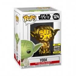 Figurine Pop Star Wars 2019 Galactic Convention Yoda Gold Chrome Edition Limitée Funko Boutique Geneve Suisse