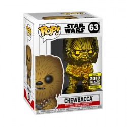 Figur Pop Star Wars 2019 Galactic Convention Chewbacca Gold Chrome Limited Edition Funko Geneva Store Switzerland