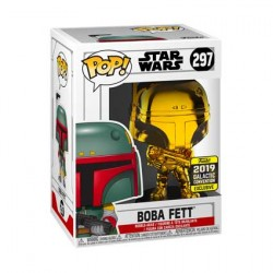 Figur Pop Star Wars 2019 Galactic Convention Boba Fett Gold Chrome Limited Edition Funko Geneva Store Switzerland