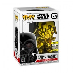 Figurine Pop Star Wars 2019 Galactic Convention Darth Vader Gold Chrome Edition Limitée Funko Boutique Geneve Suisse