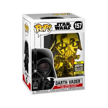 Figur Pop Star Wars 2019 Galactic Convention Darth Vader Gold Chrome Limited Edition Funko Geneva Store Switzerland