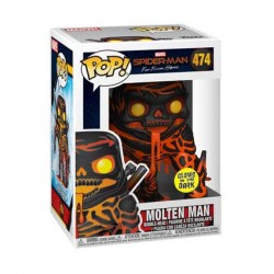 Figurine Pop Phosphorescent Spider-Man Far From Home Molten Man Edition Limitée Funko Boutique Geneve Suisse