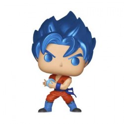Figurine Pop Dragon Ball Super SSGSS Goku Kamehameha Metallic Edition Limitée Funko Boutique Geneve Suisse