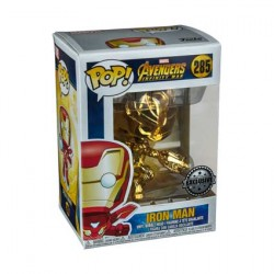 Figurine Pop Iron Man Gold Chrome Edition Limitée Funko Boutique Geneve Suisse