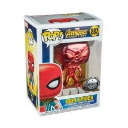 Figurine Pop Iron Spider Rouge Chrome Edition Limitée Funko Boutique Geneve Suisse