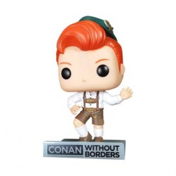 Figur Pop Conan O'Brien in Lederhosen Outfit Limited Edition Funko Geneva Store Switzerland