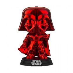 Figurine Pop Star Wars Darth Vader Rouge Chrome Édition Limitée Funko Boutique Geneve Suisse