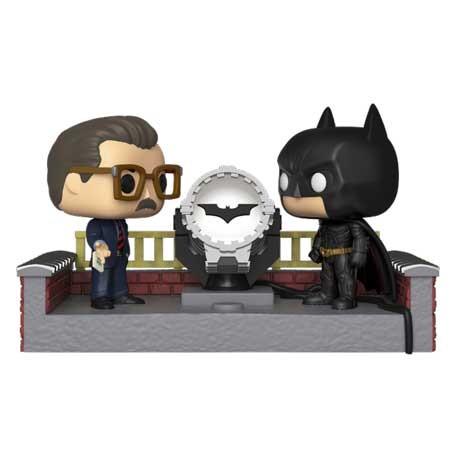 Figur Pop with Led Movie Moment Batman 80th white Light Up Bat Signal Funko Geneva Store Switzerland