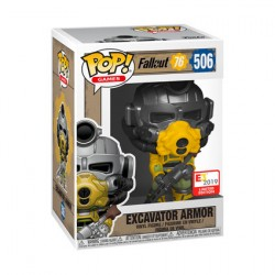 Figur Pop E3 Convention 2019 Fallout Excavator Armor Limited Edition Funko Geneva Store Switzerland