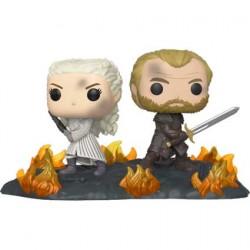 Figurine Pop Game of Thrones Daenerys et Jorah Back to Back avec Swords Movie Moments Funko Boutique Geneve Suisse