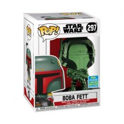 Figurine Pop SDCC 2019 Star Wars Boba Fett Green Chrome Edition Limitée Funko Boutique Geneve Suisse