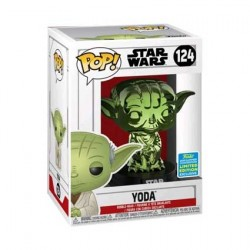 Figur Pop SDCC 2019 Star Wars Yoda Green Chrome Limited Edition Funko Geneva Store Switzerland