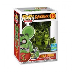 Figurine Pop SDCC 2019 Rat Fink Green Chrome Edition Limitée Funko Boutique Geneve Suisse
