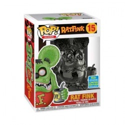 Figurine Pop SDCC 2019 Rat Fink Grey Chrome Edition Limitée Funko Boutique Geneve Suisse