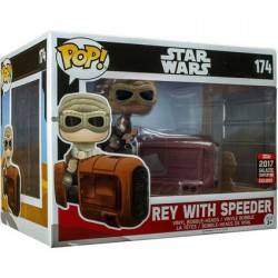 Figuren Pop Star Wars Celebration 2017 Deluxe Rey with Speeder Limitierte Auflage Funko Genf Shop Schweiz