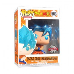 Figurine Pop Metallic Dragon Ball Super SSGSS Goku Kamehameha Edition Limitée Funko Boutique Geneve Suisse