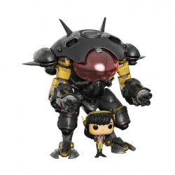 Figurine Pop 15 cm Overwatch D.Va & MEKA Carbon Fibre Edition Funko Boutique Geneve Suisse