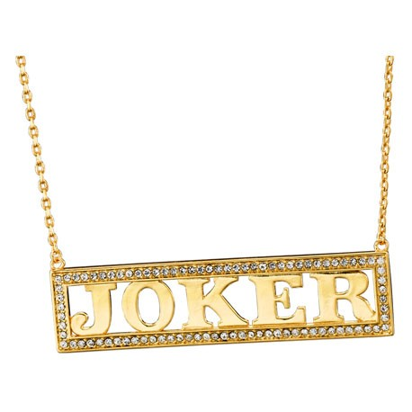 Figur DC Comics Harley's Joker Necklace Noble Collection Geneva Store Switzerland