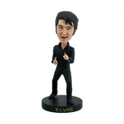 Figurine Elvis Black Leather Suit 68 Comeback Bobble Head en Résine Royal Bobbleheads Boutique Geneve Suisse
