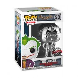 Figur Pop Batman Arkham Asylum Joker Silver Chrome Limited Edition Funko Geneva Store Switzerland