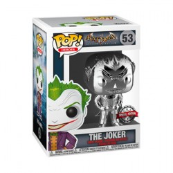 Figurine Pop Batman Arkham Asylum Joker Silver Chrome Edition Limitée Funko Boutique Geneve Suisse