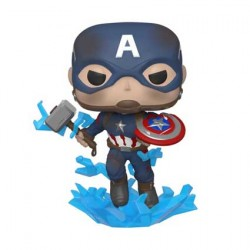 Figuren Pop Marvel Avengers Endgame Captain America with Broken Shield and Mjolnir Funko Genf Shop Schweiz
