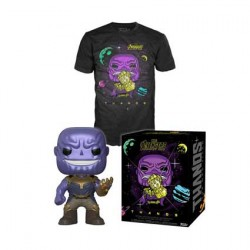 Figurine Pop Métallique et T-shirt Avengers Infinity War Thanos Edition Limitée Funko Boutique Geneve Suisse