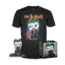 Figurine Pop et T-shirt DC Comics The Joker Edition Limitée Funko Boutique Geneve Suisse