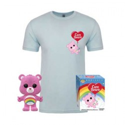 Figur Pop Flocked and T-shirt Care Bears Cheer Bear Limited Edition Funko Geneva Store Switzerland