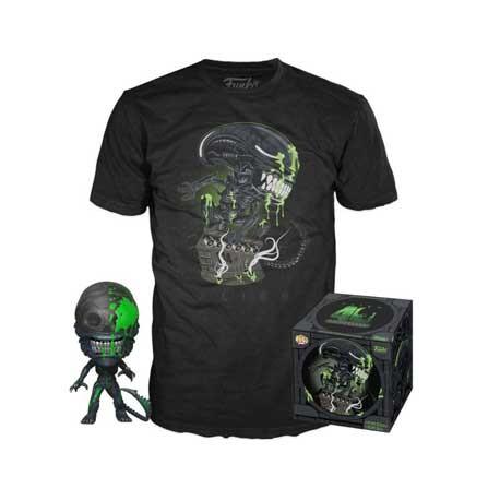 Figur Pop and T-shirt Alien 40th Xenomorph Limited Edition Funko Geneva Store Switzerland