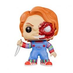 Pop Child's Play Chucky Half Battle Damaged Limitierte Auflage