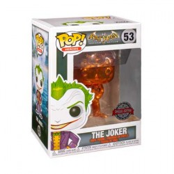Figurine Pop Batman Arkham Asylum The Joker Orange Chrome Edition Limitée Funko Boutique Geneve Suisse