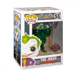 Figurine Pop Batman Arkham Asylum The Joker Green Chrome Edition Limitée Funko Boutique Geneve Suisse