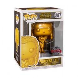 Figurine Pop Métallique Star Wars Princess Leia Gold Edition Limitée Funko Boutique Geneve Suisse
