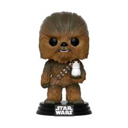 Figurine Pop Star Wars The Last Jedi Chewbacca avec Porg (Rare) Funko Boutique Geneve Suisse